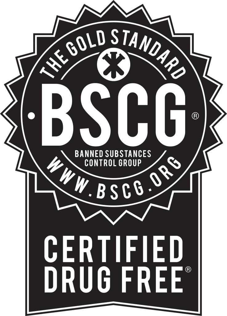 BSCG Certified Drug Free - Black Seal