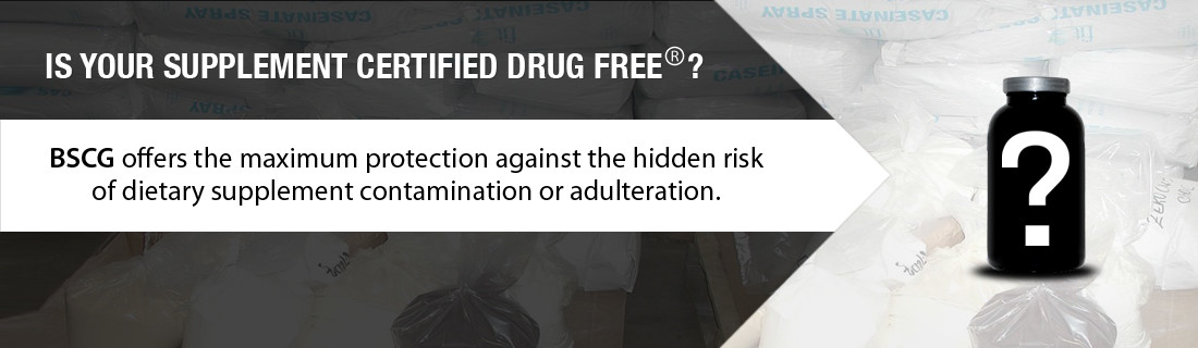 BSCG is Your Supplement Certified Drug Free