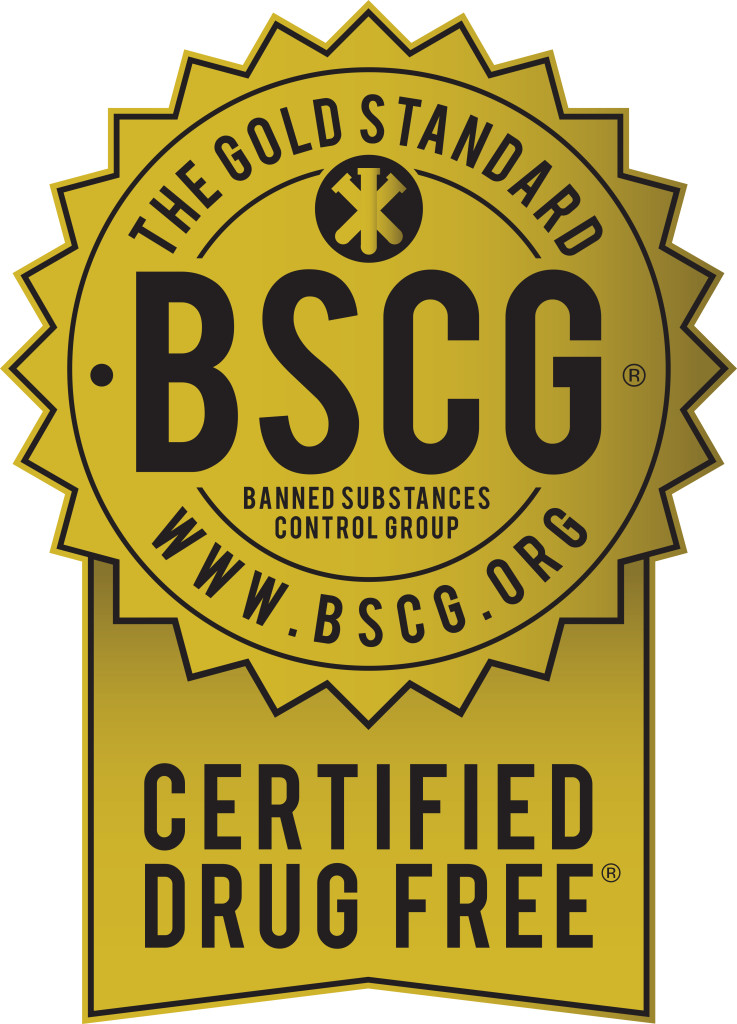 BSCG Certified Drug Free - Gold Seall