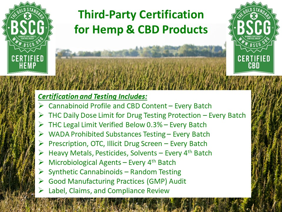 Certified Hemp and CBD