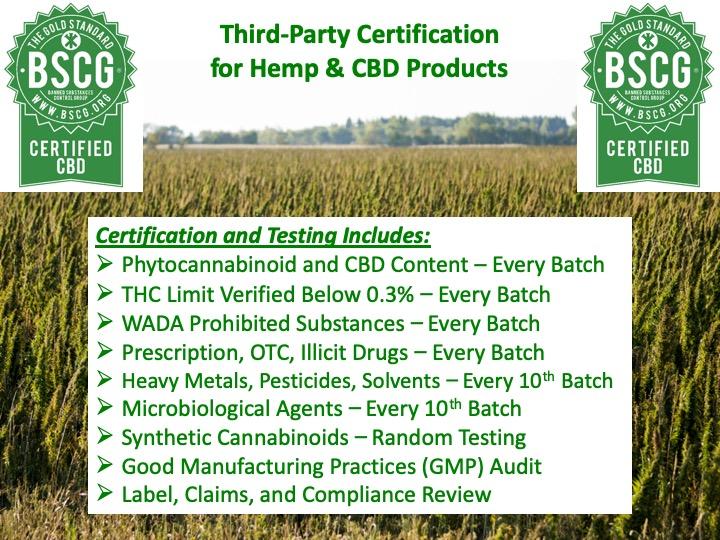 CBD Product Certification